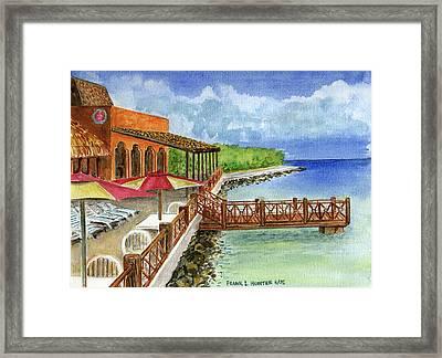 Cozumel Mexico Little Pier Framed Print