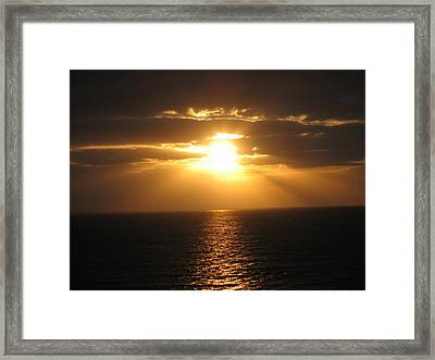 Cozumel Mexico Sunset Framed Print by Jean Marie Maggi