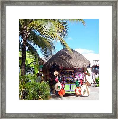 Framed Print featuring the photograph Cozumel Souvernir Shopping by Debra Martz