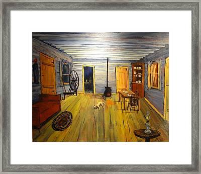 Cozy Cabin Life Framed Print by Brent Arlitt