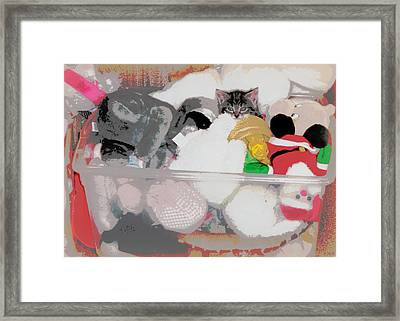 Cozy Camoflage  Framed Print