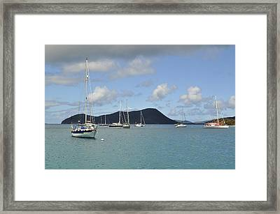 Framed Print featuring the photograph Cozy Cove by Sandy Molinaro