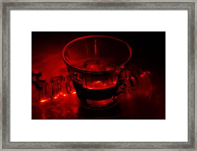 Cozy Evening Cup Of Coffee Framed Print