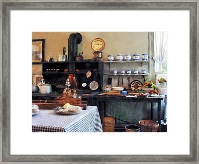 Cozy Kitchen Framed Print by Susan Savad