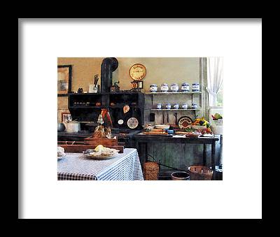 Checkered Tableclothes Framed Prints
