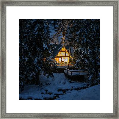 Framed Print featuring the photograph Cozy Retreat by Dan Mihai