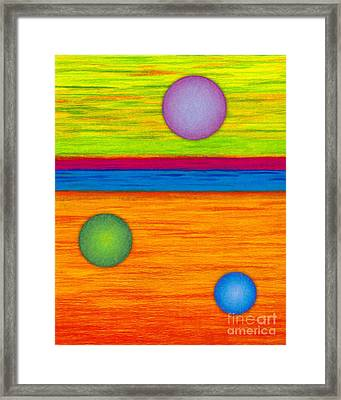 Cp001 Circle Montage Framed Print by David K Small