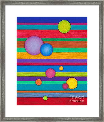 Cp003 Stripes And Circles Framed Print by David K Small
