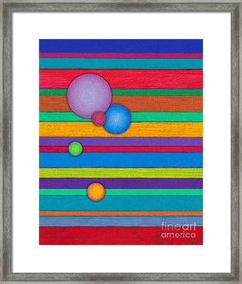 Cp003 Stripes With Circles Framed Print by David K Small