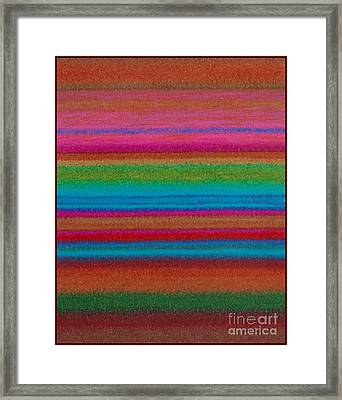 Cp014 Stripes Framed Print by David K Small