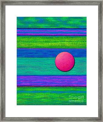 Cp022 With Circle Framed Print by David K Small
