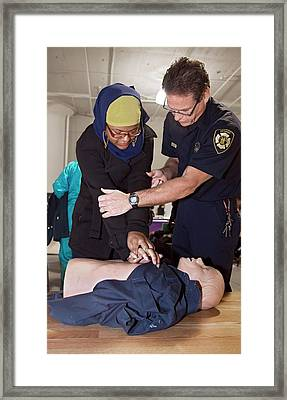 Cpr Community Training Framed Print