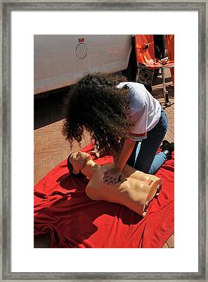 Cpr Training Framed Print by Photostock-israel