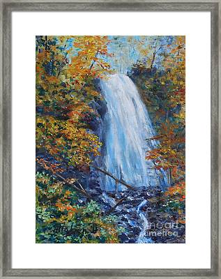 Crab Apple Falls Framed Print