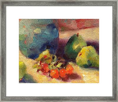 Crab Apples And Pears Framed Print by Michelle Abrams