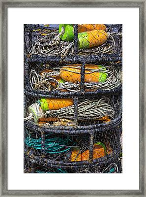 Crab Cages Framed Print by Garry Gay