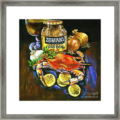 Crab Fixin's Framed Print