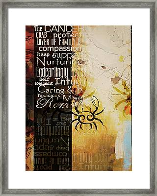 Crab Of The Star Cancer Framed Print by Corporate Art Task Force