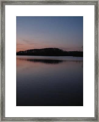 Crab Orchard Lake At Peace - 1 Framed Print