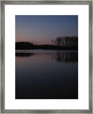 Crab Orchard Lake At Peace - 2 Framed Print