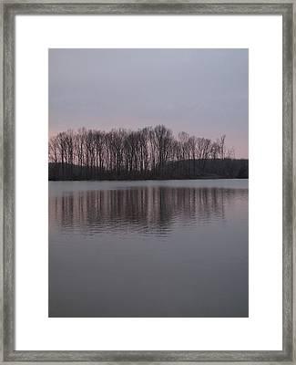 Crab Orchard Lake At Peace - 3 Framed Print