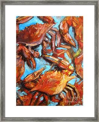 Crab Pile Framed Print
