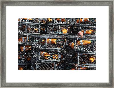Crab Pots Framed Print by Brandon Bourdages