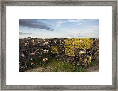 Framed Print featuring the photograph Crab Pots by Gregg Southard