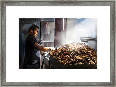 Crab Seller At Fisherman's Wharf  Framed Print by Dorothy Walker