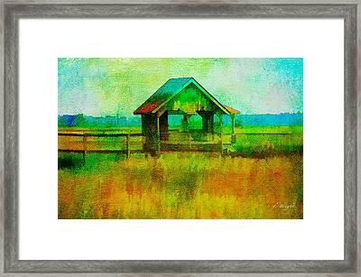 Crab Shack Pawleys Island Framed Print by Frank Bright