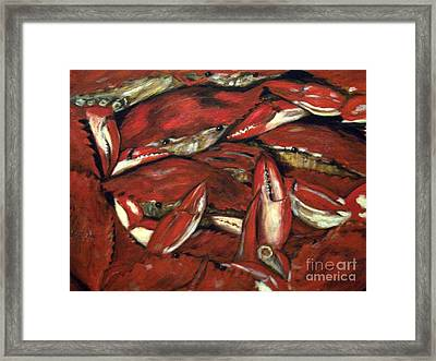 Crab Stack Framed Print