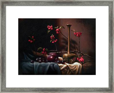 Crabapple Blossoms Framed Print by Timothy Jones