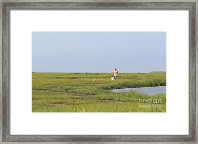 Crabbing At Mystic Island Framed Print