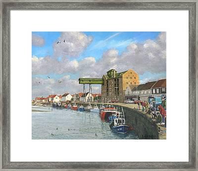Crabbing - Wells-next-the-sea Norfolk Framed Print by Richard Harpum