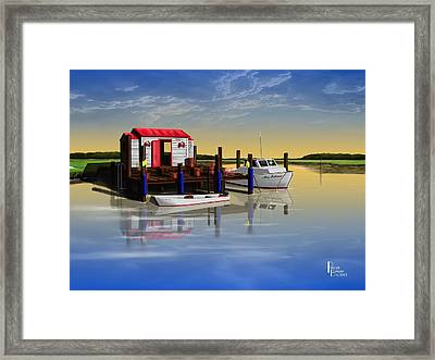 Crabby Shack Framed Print by Patrick Belote
