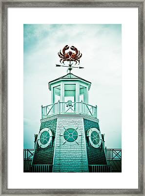 Crabby Weathervane Framed Print by Marilyn Hunt