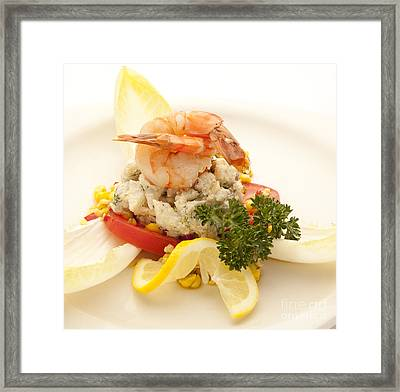 Crabmeat Framed Print by New  Orleans Food