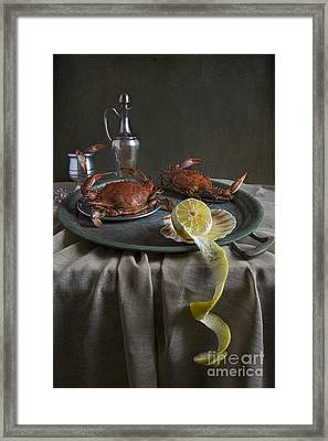Crabs For Dinner Framed Print by Elena Nosyreva