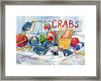 Crabs Galore Framed Print by Paul Brent