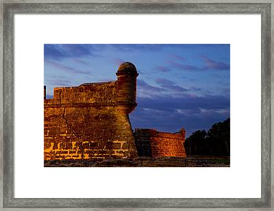 Crack In The Armor  Framed Print