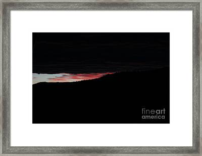 Framed Print featuring the photograph Crack Of Dawn by Ann E Robson