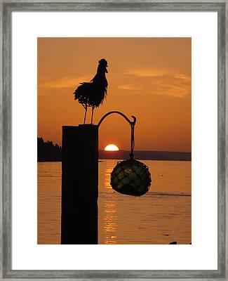 Crack Of Dawn Framed Print by Donnie Freeman