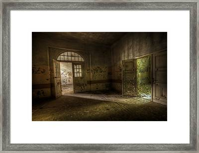 Crack Of Light Framed Print by Nathan Wright