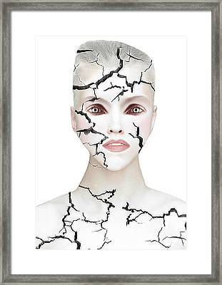 Crack Framed Print by Yosi Cupano