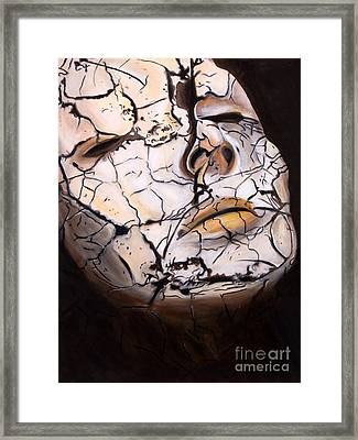 Cracked Framed Print