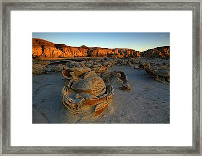 Cracked Eggs In The Bisti Badlands  Framed Print by Alan Vance Ley