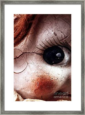 Cracked Eye Framed Print by John Rizzuto