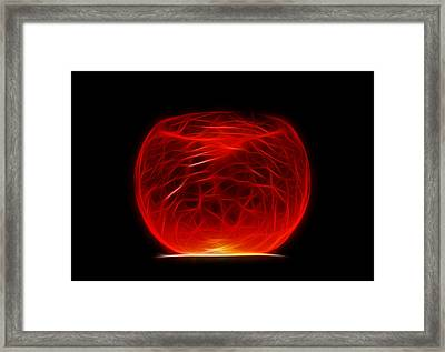 Cracked Glass 2 Framed Print by Shane Bechler