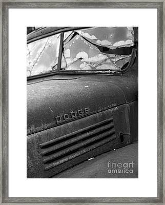 Cracked Framed Print by Gordon Wood