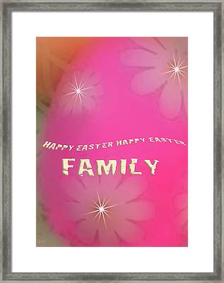 Cracked Happy Easter Framed Print by Debra     Vatalaro